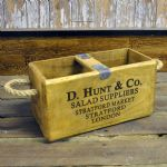 Vintage Wooden Fish Crate Trug Box Industrial Planter - Various